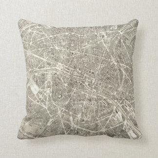 Antique Map of Paris | Vintage Decor Throw Pillow