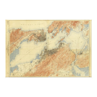 Antique Map of San Francisco Bay Area 1915, Canvas
