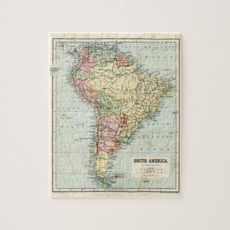 Antique map of South America Jigsaw Puzzle