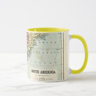 Antique map of South America Mug