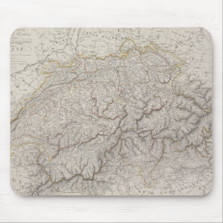 Antique Map of Switzerland Mouse Pad