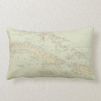 Antique Map of the Bahama Islands Lumbar Cushion