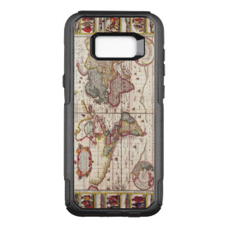 Antique Map of the Known World Circa 1652 OtterBox Commuter Samsung Galaxy S8+ Case