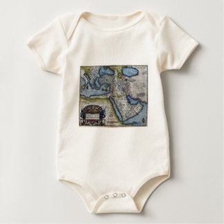 Antique Map of The Middle East Baby Bodysuit