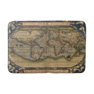 Antique Map of the World Bath Mat
