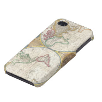 Antique map of the world beautiful detailed gift iPhone 4 covers