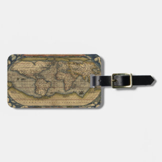 Antique Map of the World Luggage Tag