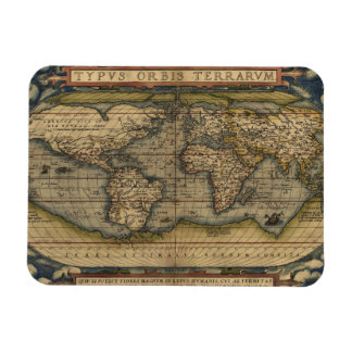 Antique Map of the World Magnet