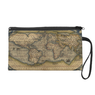 Antique Map of the World Wristlet