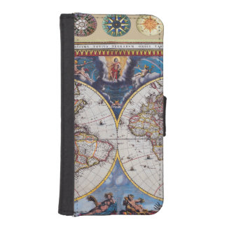 Antique Map Phone Wallet
