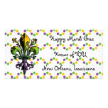 Antique Mardi Gras Fleur Photo Greeting Card