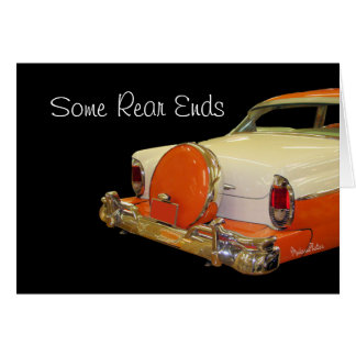 Antique Merc rear end-customize any occasion Card
