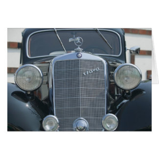 antique mercedes 2 greeting card