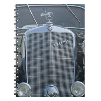 antique mercedes 2 spiral notebooks