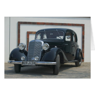 antique mercedes 3 greeting card