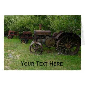 Antique Metal Wheel Tractors Card