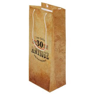 Antique Milestone 30th Birthday Wine Gift Bag