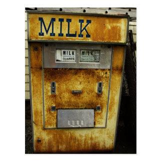 Antique Milk Machine Postcard