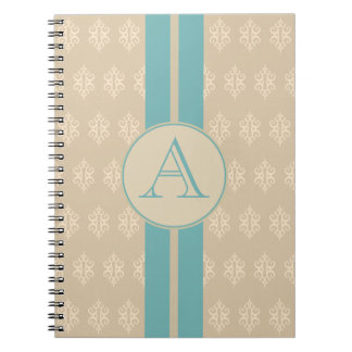 Antique Monogrammed Lace Notebook