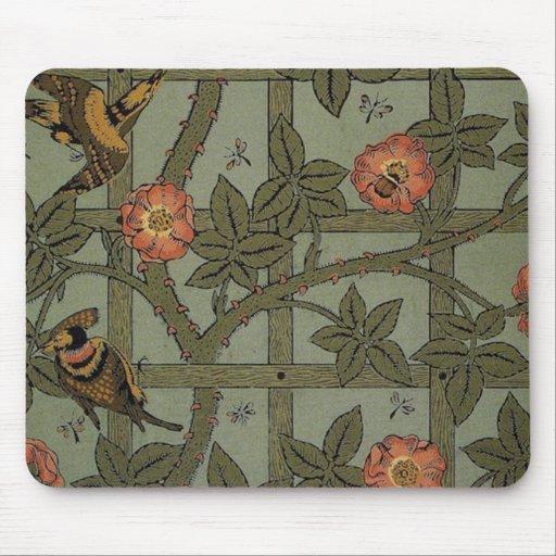 Antique Morris Trellis Wallpaper Mousepads