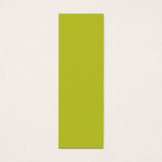 Antique Moss Green Yellow 2015 Color Trend Mini Business Card