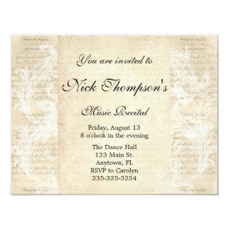 Antique Music Recital Invitation