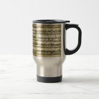 Antique Music Score Sheet Travel Mug