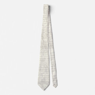 Antique Music Sheet Grey Floral Tie