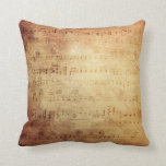 Antique Music Throw Pillows