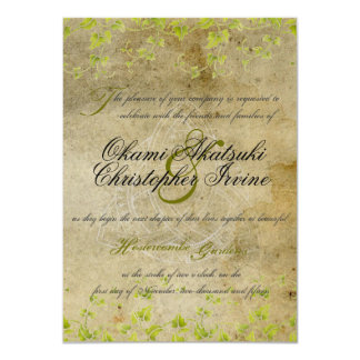 Antique natural invitation