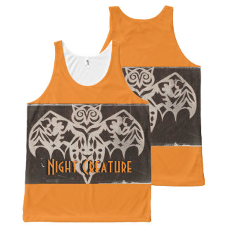 Antique Night Creature Spooky Gothic One Text Area All-Over Print Tank Top