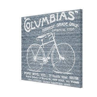 Antique Old Fashioned Bicycle Jeans Canvas Canvas Print