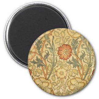 Antique Old Floral Design Magnet