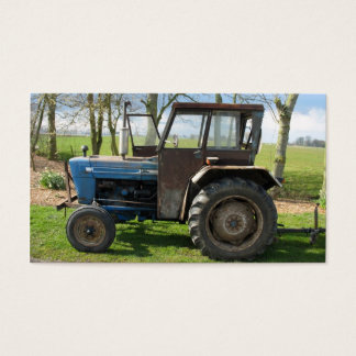 Antique Old Tractor Small Photo Card