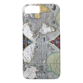 Antique old world map 1595 Restored iPhone 7 Case