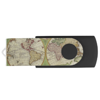 Antique Old World Map History-lover's Gift Swivel USB 2.0 Flash Drive