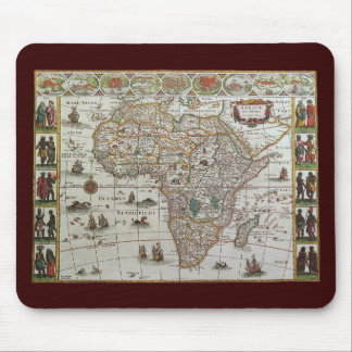 Antique Old World Map of Africa, c. 1635 Mouse Pads