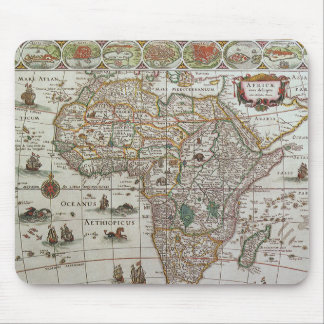 Antique Old World Map of Africa, c. 1635 Mouse Pad
