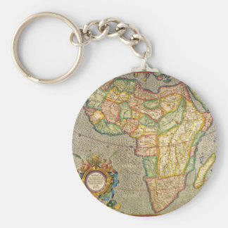 Antique Old World Mercator Map of Africa, 1633 Key Chains