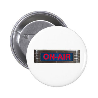 Antique On-Air Sign or On-The-Air Broadcasting 6 Cm Round Badge
