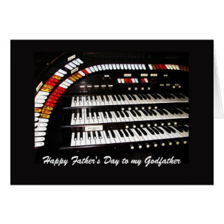Antique Organ Happy Father's Day to Godfather Card
