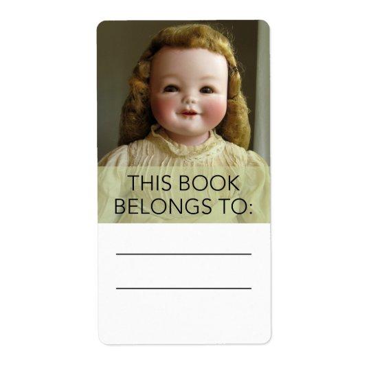 Antique Orsini Doll Bookplate Sticker