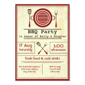 Antique Paper BBQ Party - Invitation