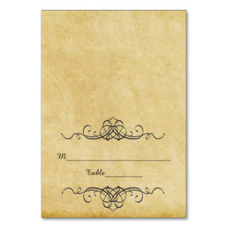 Antique Paper - Escort Cards Table Card