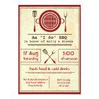 "Antique Paper ""I do"" BBQ Party - 3x5 Invitation"