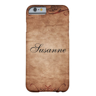 Antique Paper Scroll Barely There iPhone 6 Case