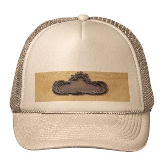 Antique Parchment and Brass Plaque Trucker Hats