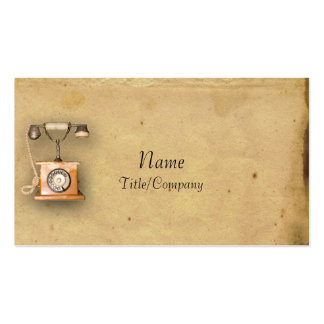 Antique Parchment and Telephone Pack Of Standard Business Cards