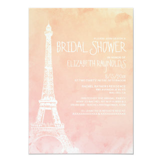 Antique Paris Bridal Shower Invitations