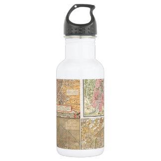 Antique Paris Maps 532 Ml Water Bottle